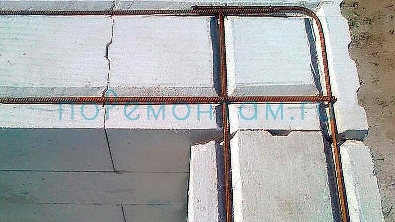 Армирование стен из газоблоков