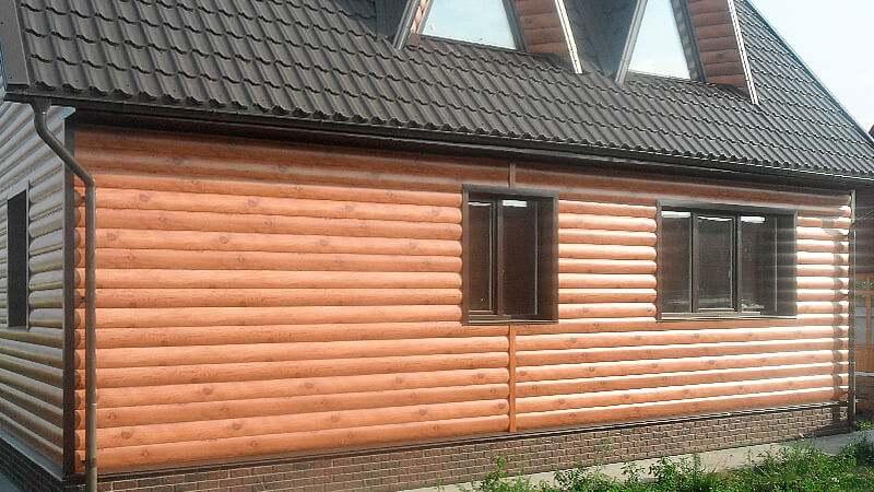Блок хаус фасад дома