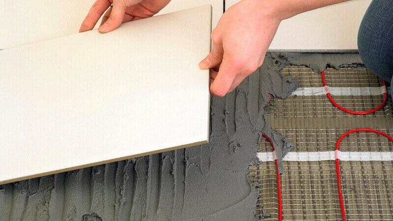 Электрический кабельный теплый пол под плитку