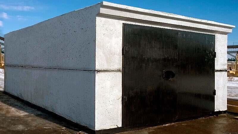 Гараж ракушка бетонный