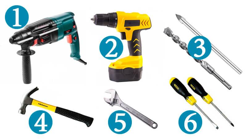 Необходимые инструменты для установки унитаза