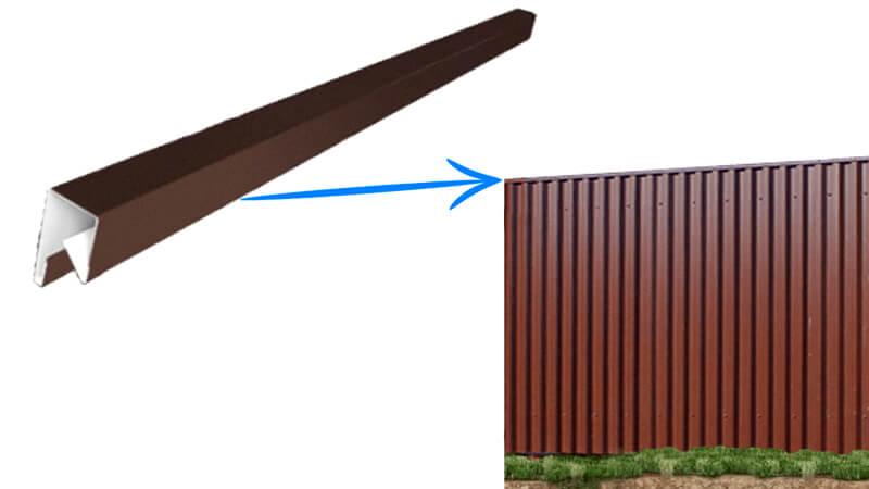 декоративная планка на забор из профнастила
