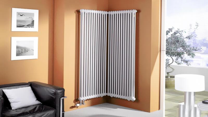 угловой вертикальный радиатор для квартиры