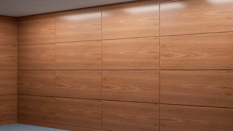 Шпонированные стеновые панели в интерьере