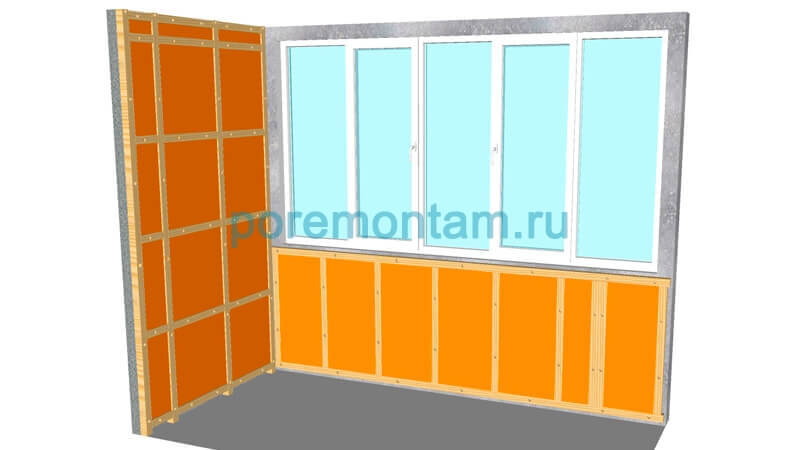 монтаж пеноплекса на балконе
