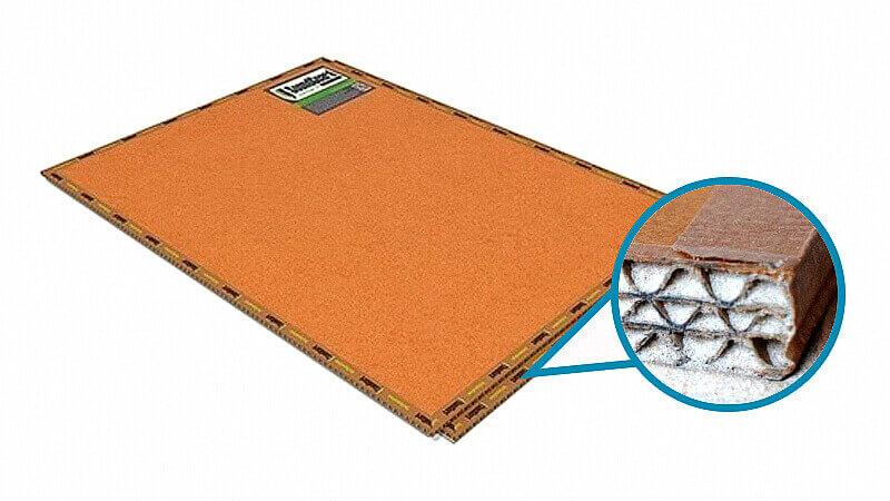 Панель состоящая из плотного картона с песком